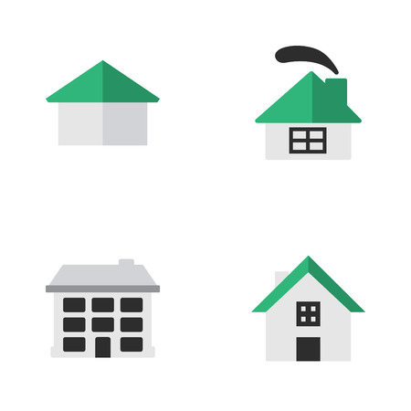 Set Of Simple Estate Icons.