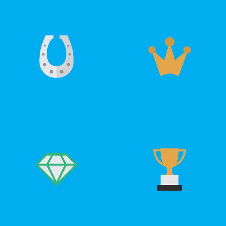 Set Of Simple Achievement Icons. Illustration