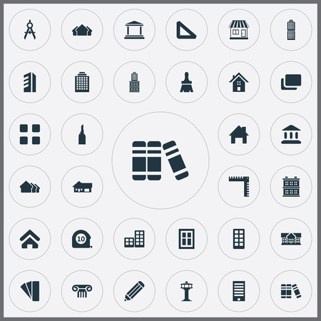 Set Of Simple Construction Icons.