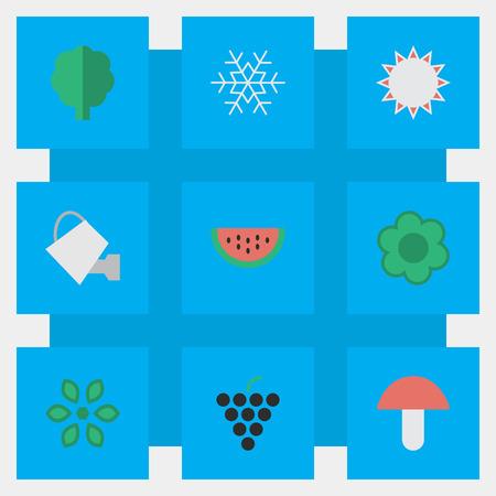Set Of Simple Garden Icons. Illustration