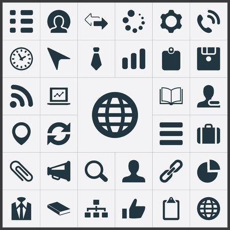 Conjunto de ícones de equipe simples. Elementos Ponteiro, Membro, Pinpoint e outros sinônimos Educação, Remover e Portfolio.