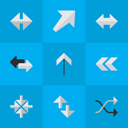 Set Of Simple Cursor Icons.