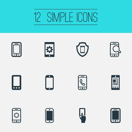 Set Of Simple Smartphone Icons.