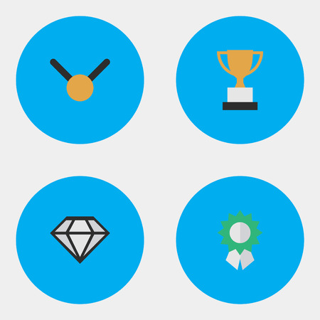 Set Of Simple Trophy Icons.