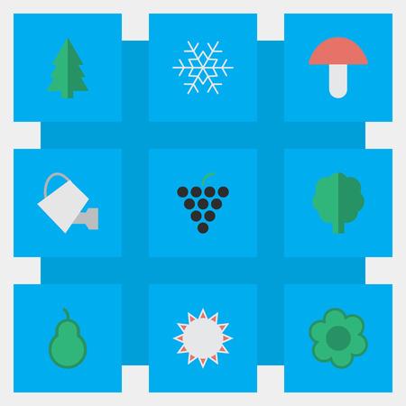 Set van eenvoudige tuinbouw pictogrammen.
