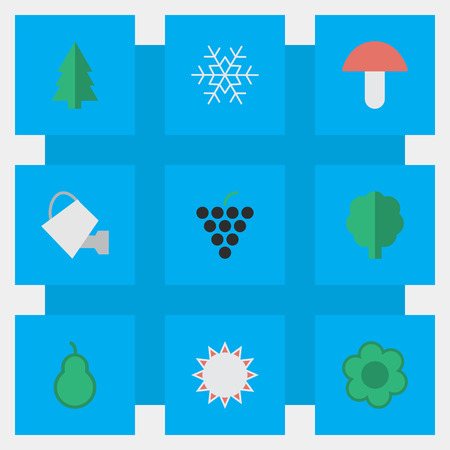 Set Of Simple Horticulture Icons.