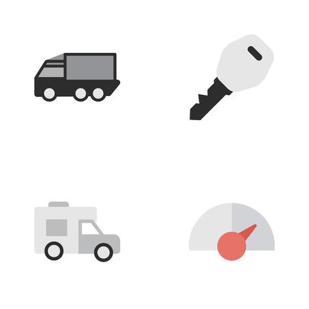 シンプルな交通アイコンのセットです。