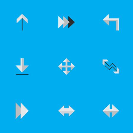 벡터 일러스트 레이 션 간단한 커서 아이콘의 집합입니다. 요소 온 워드, 로딩, 화살표 및 기타 동의어 Arrow, Export And Forward.