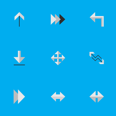 Vector Illustration Set Of Simple Cursor Icons. Elements Onward, Loading, Arrow And Other Synonyms Arrow, Export And Forward.