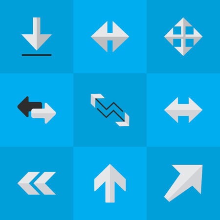Vector Illustration Set Of Simple Indicator Icons. Elements Back, Import, Arrow And Other Synonyms Rearward, Southwest And Backward.