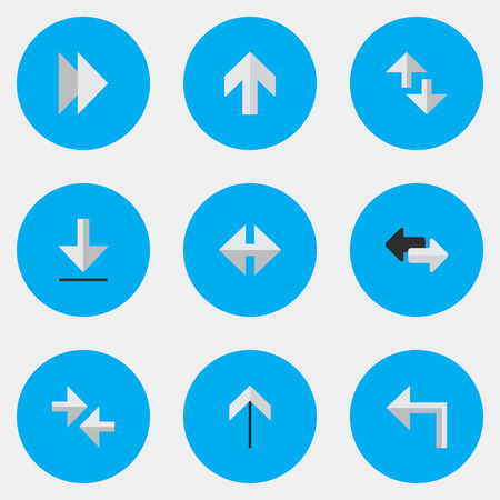 Vector Illustration Set Of Simple Cursor Icons. Elements Cursor, Loading, Up And Other Synonyms Forward, Import And Loading.