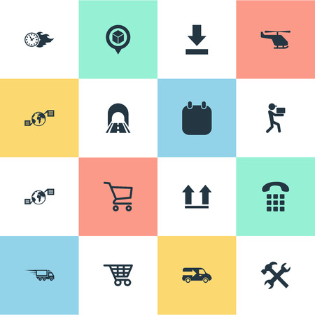 Vector Illustration Set Of Simple Systematization Icons. Elements Global Trade, Up Side, Renovation And Other Synonyms Man, Van And Helicopter. Illustration