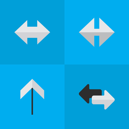 Vector Illustration Set Of Simple Pointer Icons. Elements Indicator, Up, Import And Other Synonyms Arrow, Up And Everyway.