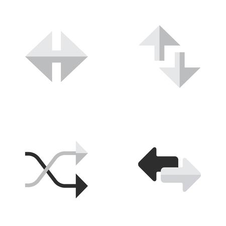 벡터 일러스트 레이 션 간단한 포인터 아이콘의 집합입니다. 요소 표시기, 가져 오기, 커서 및 기타 동의어 Chaotically,로드 및 화살표. 스톡 콘텐츠 - 84556511