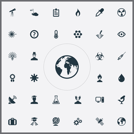 Vector Illustration Set Of Simple Study Icons. Elements Burst, Checklist, Reward And Other Synonyms Satellite, Globe And Snowflake. Illustration