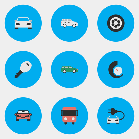 Vector Illustration Set Of Simple Traffic Icons. Elements Suv, Open, Sport And Other Synonyms Chronometer, Bus And Open.