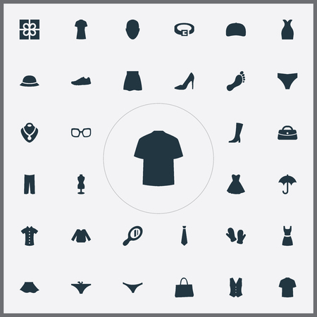 Vector Illustration Set Of Simple Wardrobe Icons. Elements Attire, Eyeglasses, Footwear And Other Synonyms Winter, Necklace And Male.