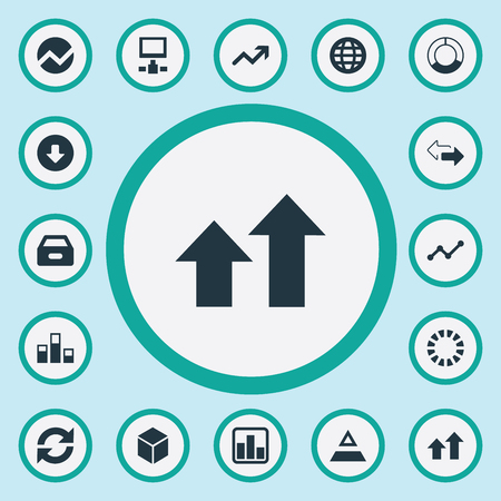 repeatability: Illustration Set Of Simple Information Icons. Elements Download, Triangle, Increase And Other Synonyms Statistics, Triangle And Finance.