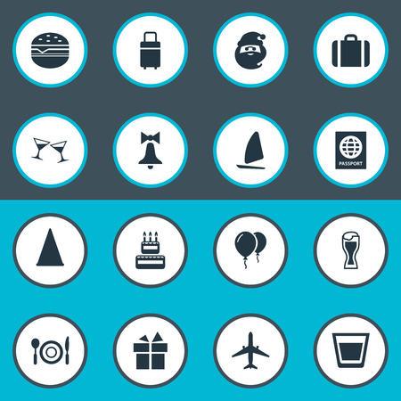 Vector Illustration Set Of Simple Festal Icons. Elements Ale Mug, Yachting, Sandwich Synonyms Sport, Mug And Supper. Illustration