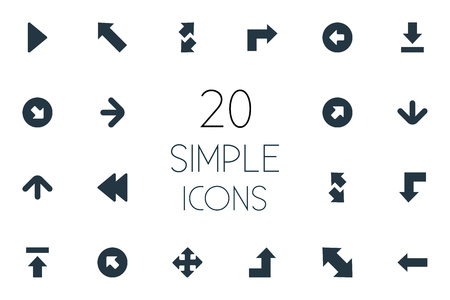 Vector Illustration Set Of Simple Indicator Icons. Elements Raising-Falling, Right Leading, Transfer And Other Synonyms Reduction, Progress And Decrease.