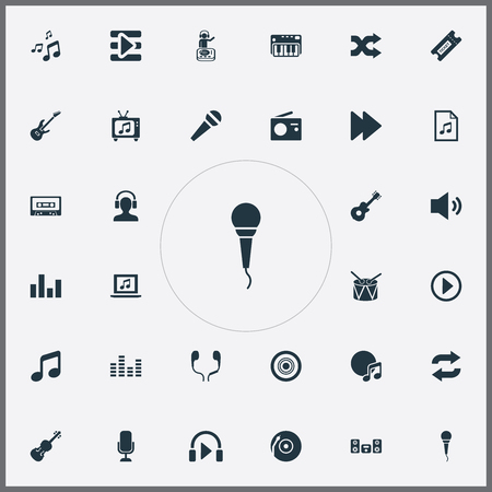 Vector Illustration Set Of Simple  Icons. Elements File, Again, Synthesizer And Other Synonyms Ticket, Stabilizer And Coupon.