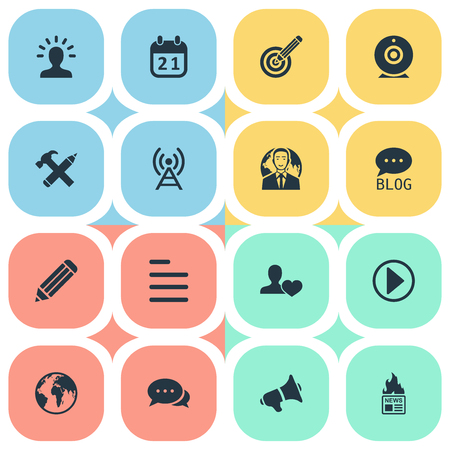 Vector Illustration Set Of Simple User Icons. Elements Site, Start, Task And Other Synonyms Audience, Person And User. Illustration
