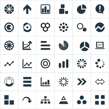 Vector Illustration Set Of Simple  Icons. Elements Hive, Lecture, Circle Diagram And Other Synonyms Plan, Honeycomb And Circular.