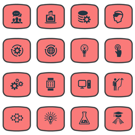 Vector Illustration Set Of Simple Innovation Icons. Elements Setting Reload, Smart Watch, Click And Other Synonyms Intercommunication, Tube And Personal.