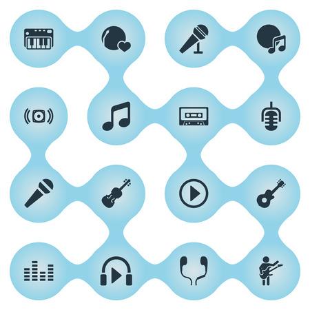 Illustration vectorielle définie des icônes simples. Éléments: haut-parleur, parole, gomme laque et autres synonymes: égaliseur, parole et stabilisateur. Banque d'images - 85338111
