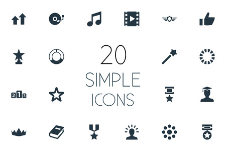 Vector Illustration Set Of Simple Champ Icons. Elements Prize, Waiting, Loading And Other Synonyms Place, User And Arrow.