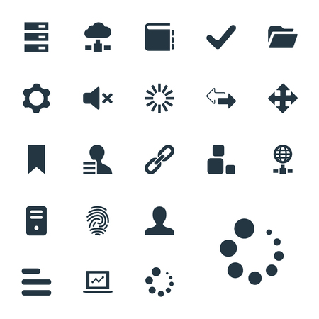 Elements Hyperlink, Flag, Arrows And Other Synonyms Reverse, Variety And Globe.  Vector Illustration Set Of Simple Practice Icons. Illustration