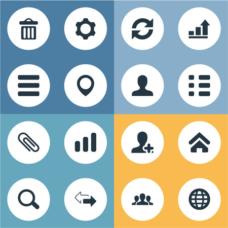 Elements Member, List, Planet And Other Synonyms Person, Update And Member.  Vector Illustration Set Of Simple Interaction Icons.