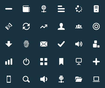 Elements Cube, Goal, Reload And Other Synonyms Arrow, Touchscreen And List.  Vector Illustration Set Of Simple Practice Icons.