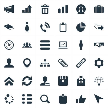 Elementen hotline, structuur, notitieblok en andere synoniemen aanwijzer, controlelijst en succes. Vector illustratie Set van eenvoudige interactie pictogrammen.