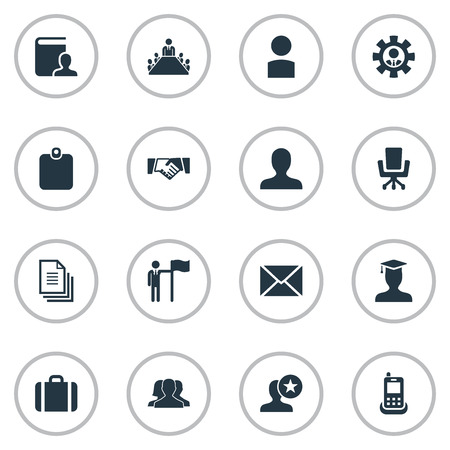 Elements Elbow Chair, Luggage, Human And Other Synonyms Message, Team And Members.  Vector Illustration Set Of Simple  Icons. 向量圖像