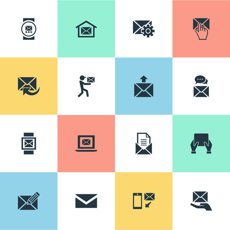 Vector Illustration Set Of Simple Mailing Icons. Elements Entering, Message, Messaging And Other Synonyms Box, Blank And Dispatch. Иллюстрация