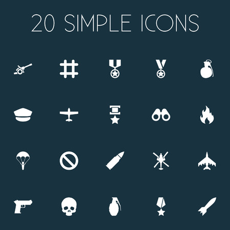 Vector Illustration Set Of Simple Conflict Icons. Elements Prison, Parachute, Forbidden And Other Synonyms Block, Dynamite And Fighter.