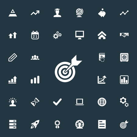 Vector Illustration Set Of Simple Entrepreneurship Icons. Elements Line Graph, Graph, Tag And Other Synonyms Master, Award And Line. Stock Vector - 85614543