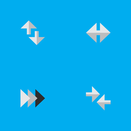 Vector Illustration Set Of Simple Arrows Icons. Elements Cursor, Onward, Export And Other Synonyms Forward, Import And Onward.