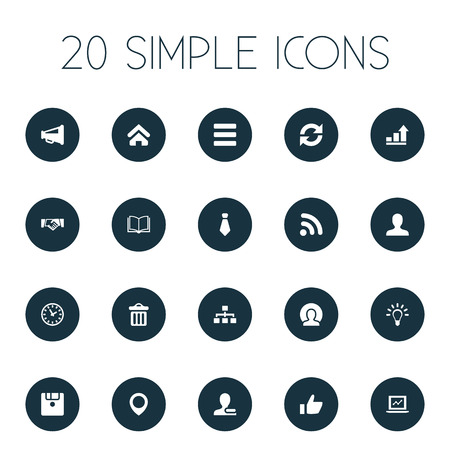 Vector Illustration Set Of Simple Interaction Icons. Elements Replacement, List, Pinpoint And Other Synonyms Cravat, Signal And Internet.