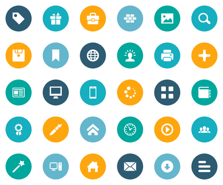 Vector Illustration Set Of Simple Design Icons. Elements Diskette, Message, World And Other Synonyms Flag, Loading And Layering.