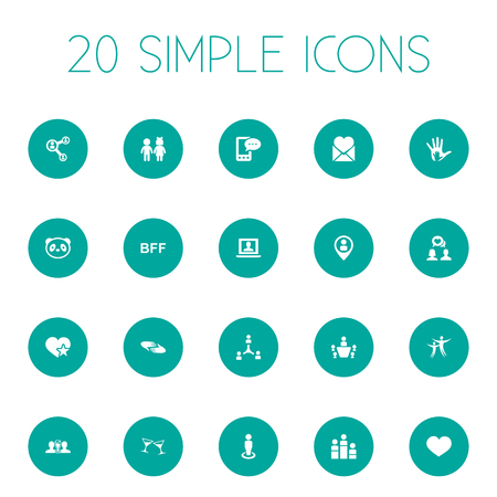 Vector Illustration Set Of Simple Buddies Icons. Elements Beer, Dance, Winner And Other Synonyms Boy, Toy And Man. Reklamní fotografie - 85614673