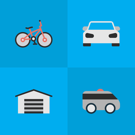 Vector Illustration Set Of Simple Shipping Icons. Elements Sport, Recycle, Armored And Other Synonyms Sport, Car And Shed.