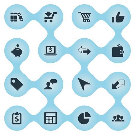 Vector Illustratie Set Van Eenvoudige Investeringspictogrammen. Element Segmentatie, Dollar, Etiket En Andere Synoniemen Dollar, Geld En Valuta.