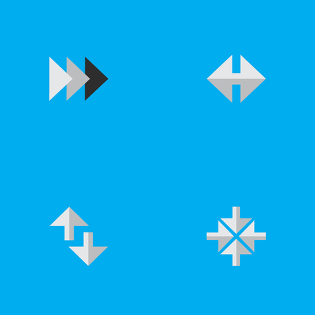 Vector Illustration Set Of Simple Pointer Icons. Elements Inside, Cursor, Indicator And Other Synonyms Ahead, Internet And Arrow.