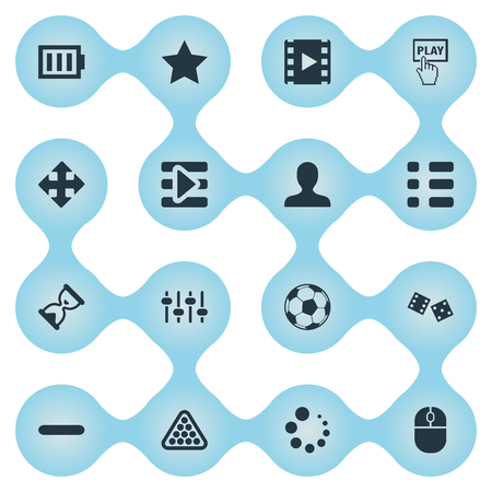 Elements Start, Football, Gambling And Other Synonyms Select, Arrow And Gambling.  Vector Illustration Set Of Simple Game Icons.