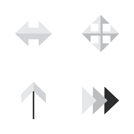 Elements Everyday, Widen, Onward And Other Synonyms Arrow, Resize And Enlarge. Illustration