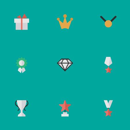 要素スター、現在、メダルや他の同義語コロナ、最初と賞。