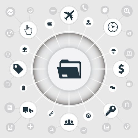Vector Illustration Set Of Simple Business Icons. Elements Money, Group, Chatting And Other Synonyms Delivery, Airplane And Business. Illustration