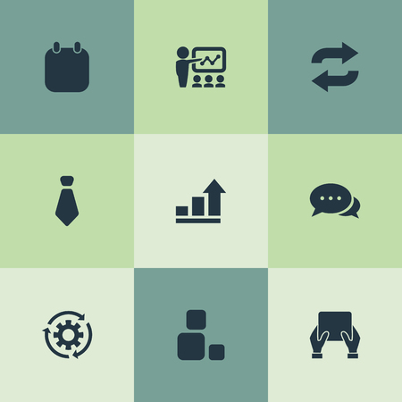 Set Of Simple Presentation Icons. Çizim